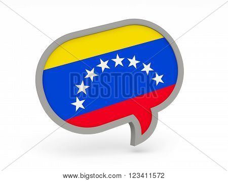 Chat Icon With Flag Of Venezuela