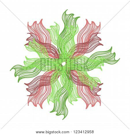 Bright Colorful Vector Flower