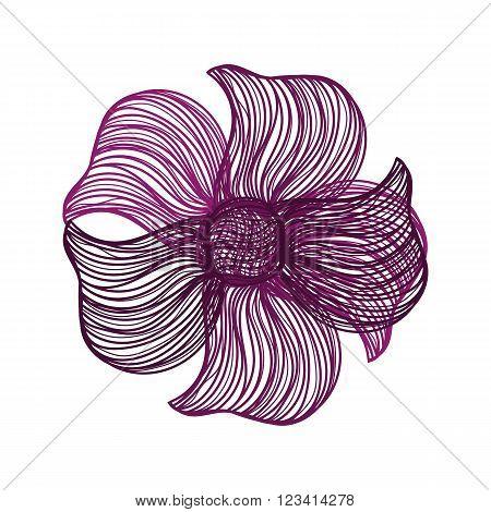 Purple Vector Flower
