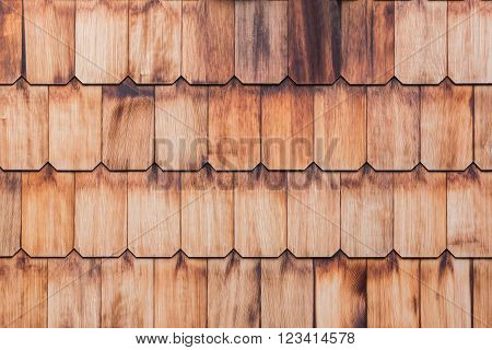 Pattern Of Overlap Shingle Wood Texture.