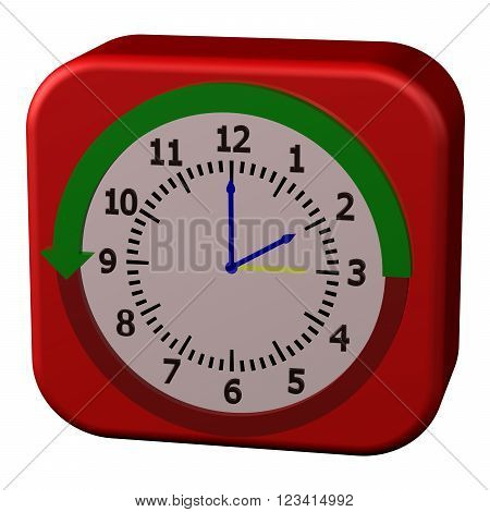 Concept - Daylight Saving Time Ends isolated on white background. 3D render.