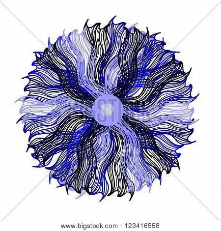 Bright Blue Vector Flower