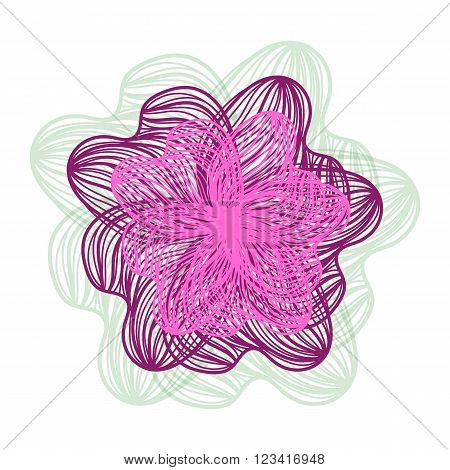 Bright Abstract Vector Flower