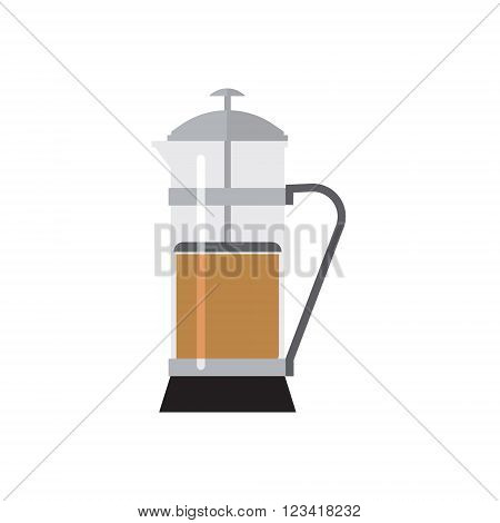 Tall Press Simplified  Graphic Flat Vector Illustration Isolated On White Background
