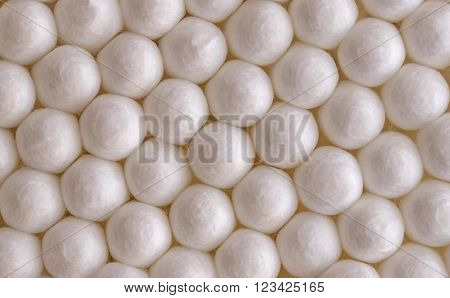 background of white cotton balls close-up macro