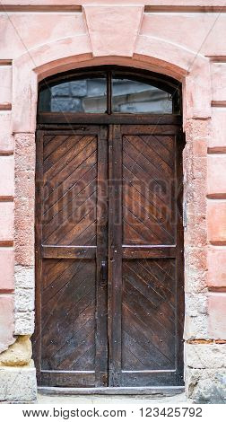 Old Wooden Door, The City Of Lviv.