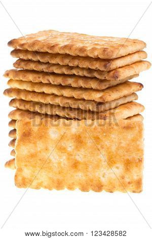 Biscuit Texture Closeup Details Isolated On White