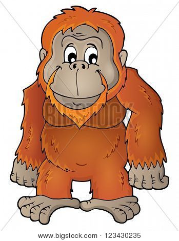 Orangutan theme image 1 - eps10 vector illustration.