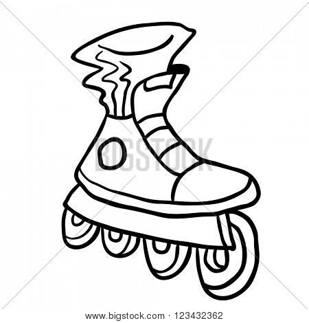 simple black and white roller blade
