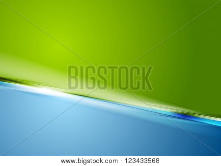 Abstract contrast green blue stylish background. Vector graphic design