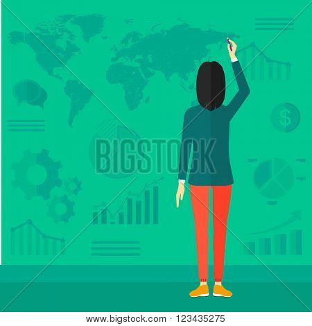 Business woman presenting report.