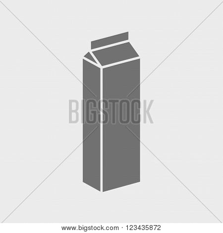 Packaging Container for Milk icon or sign