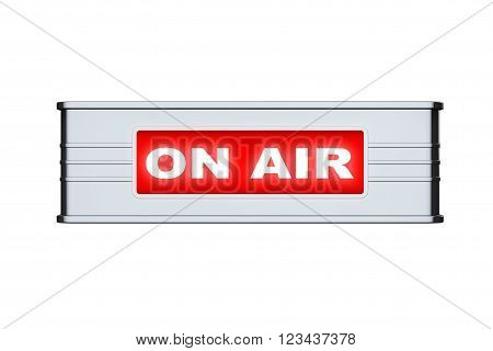 On Air Sign on a white background. 3d Rendering