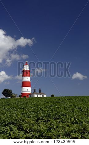 Happisburgh lighthouse on the North Norfolk coast built in 1790 is the only independently operated lighthouse in Great Britain.