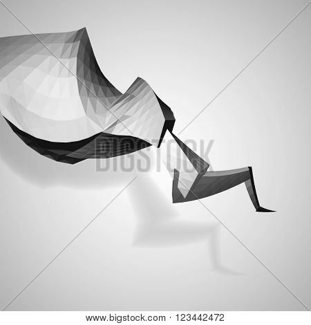 Dynamic abstract element on white background, vector eps 10 illustration