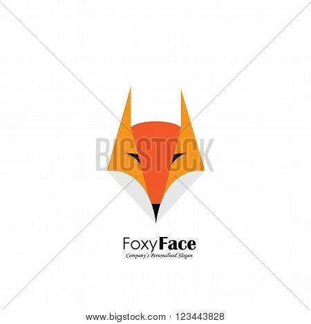 Vector Logo Icon Of Cute Fox Face