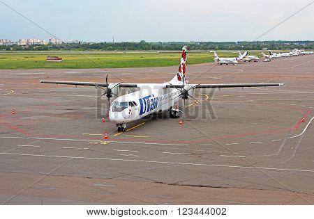 KYIV, UKRAINE - JUNE 04, 2013: International Airport Kyiv in Kyiv, Ukraine