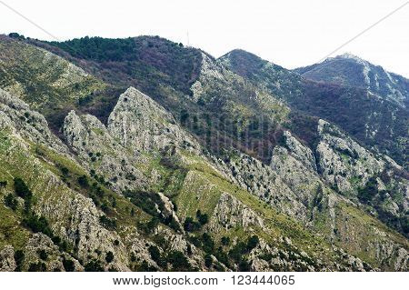 The mountains of the peninsula Vrmac, Montenegro