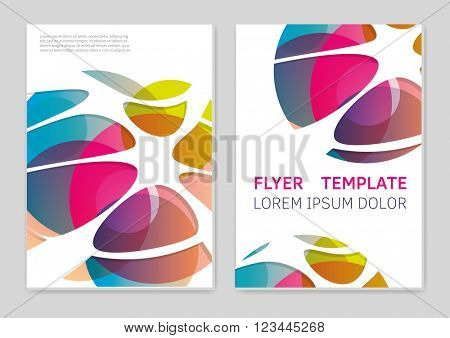Vector  business brochure or magazine cover  template