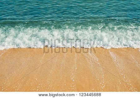 Surf on the Seashore of Black Sea