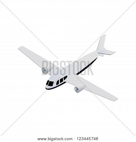 Vector isometric seaplane realistic icon. technical illustration