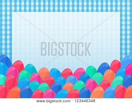 Easter Eggs Frame Cartoon Style Napkin Colorful 4