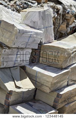 Recycle paper waste biodegradable refuse industrial garbage