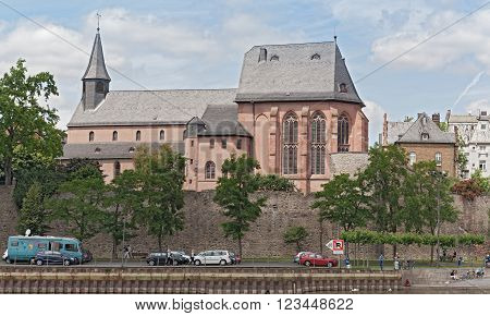 the old Saint Justin's Church, Frankfurt-Hoechst, Germany