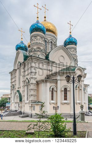 Pokrovsky Russian Orthodox Cathedral In Vladivostok,  Russia