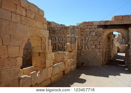 Mamshit National park in Negev desert Israel.