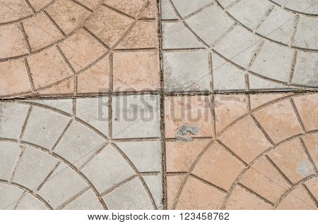 concrete block pavement, background of dirty floor