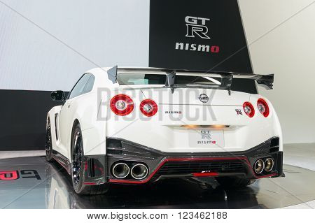 Nonthaburi - March 23: Nissan Gtr Nismo On Display At The 37Th Bangkok International Motor Show