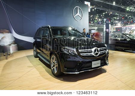 NONTHABURI - MARCH 23:NEW Mercedes Benz S500 Coupe AMG on display at The 37th Bangkok International Motor show on MARCH 23, 2016 in Nonthaburi, Thailand.