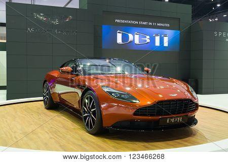 Nonthaburi - March 23: New Aston Martin Db 11 On Display At The 37Th Bangkok International Motor Sho