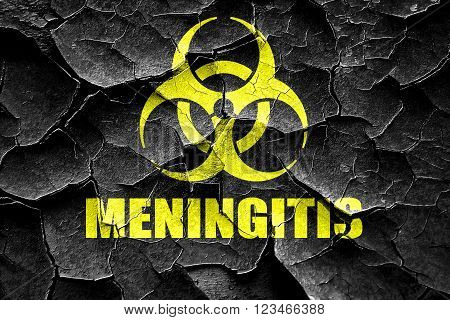 Grunge cracked meningitis virus concept background with some soft smooth lines