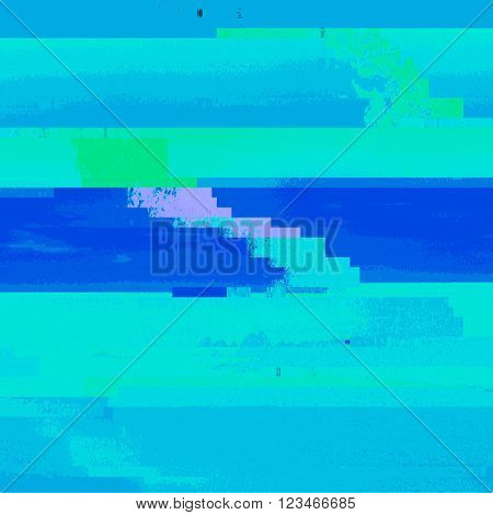 Colored Abstract Glitch Art Design Background