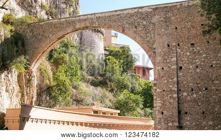 Old stone archway in Monte Carlo Monaco