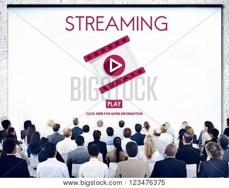 Streaming Audio Video Listening Multimedia Concept