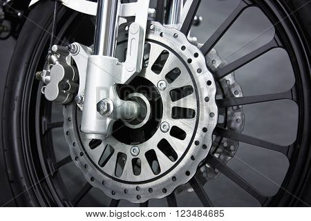 a wheel of a motorcycle with disk brake
