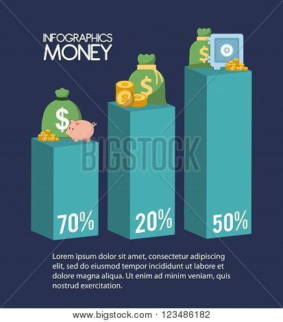 Money concept with infographic  icon design, vector illustration 10 eps graphic.