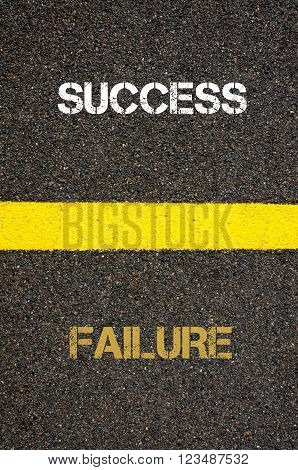 Antonym Concept Of Failure Versus Success