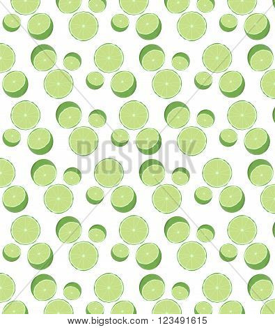 round green lime seamless pattern, background, texture
