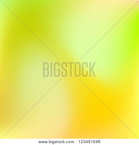 Abstract green and yellow blur color gradient background for deign concepts, web, presentations and prints. Vector illustration.