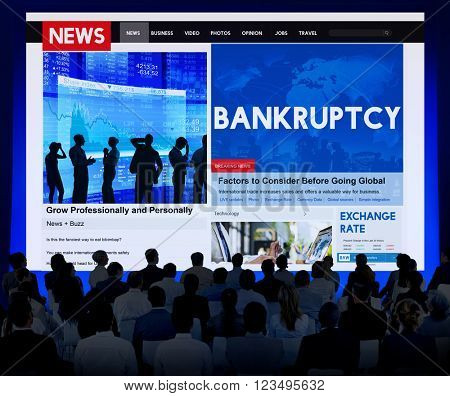 Bankruptcy Recession Loss Debt Money Finance Concept