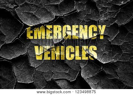 Grunge cracked Emergency services sign with yellow and black colors
