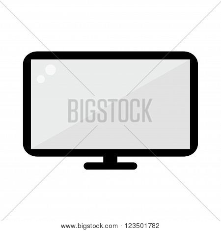 TV icon. TV isolated icon on white background. Television icon. Flat style vector illustration.