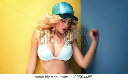 Summer Style Photo Of Young Blonde Girl .