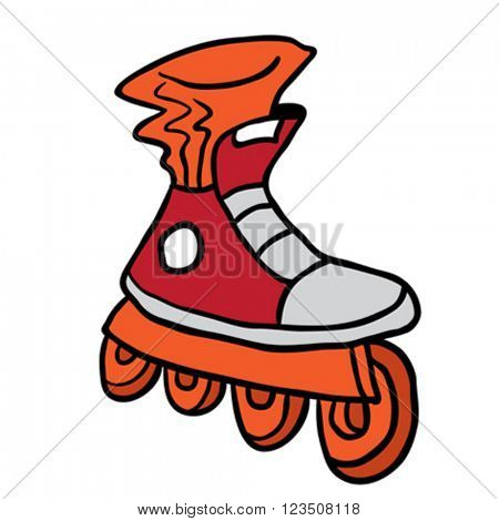 roller blade cartoon
