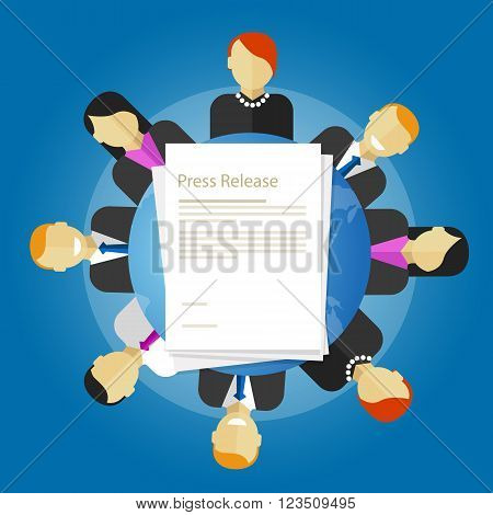 press release news paper publication illustration concept symbol  vector