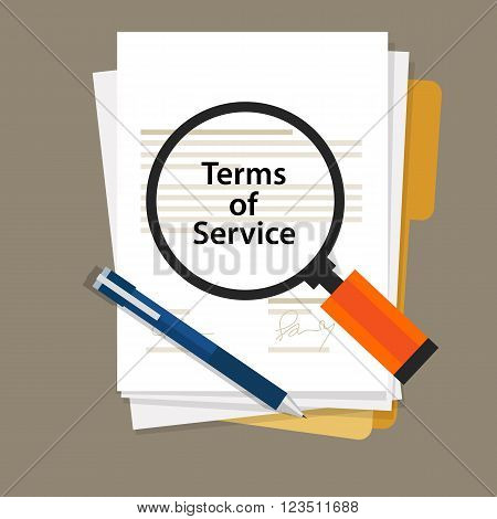 terms of service contract document signed paper